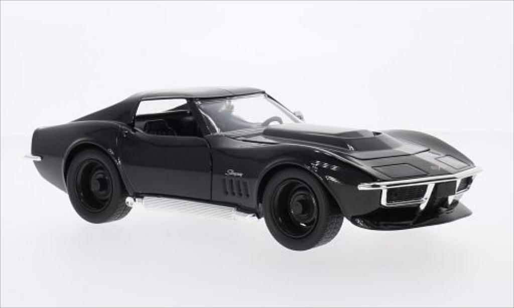 Chevrolet Corvette C3 1/24 Jada Toys Toys Stingray black 1969 diecast model cars
