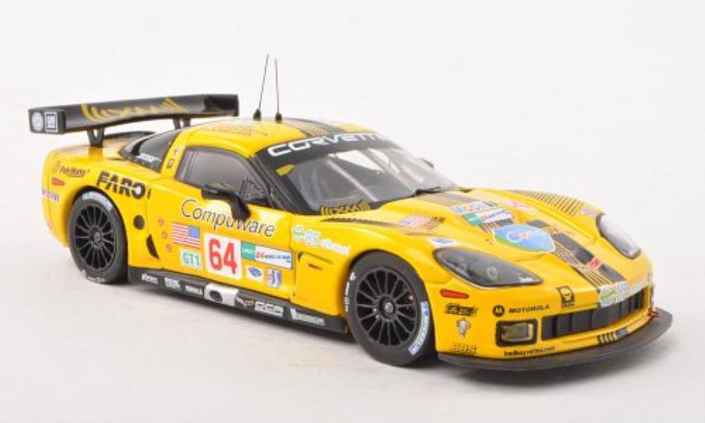 Chevrolet Corvette C6 1/43 IXO C6.R No.64 Compuware 24h Le Mans 2008 /M.Papis diecast