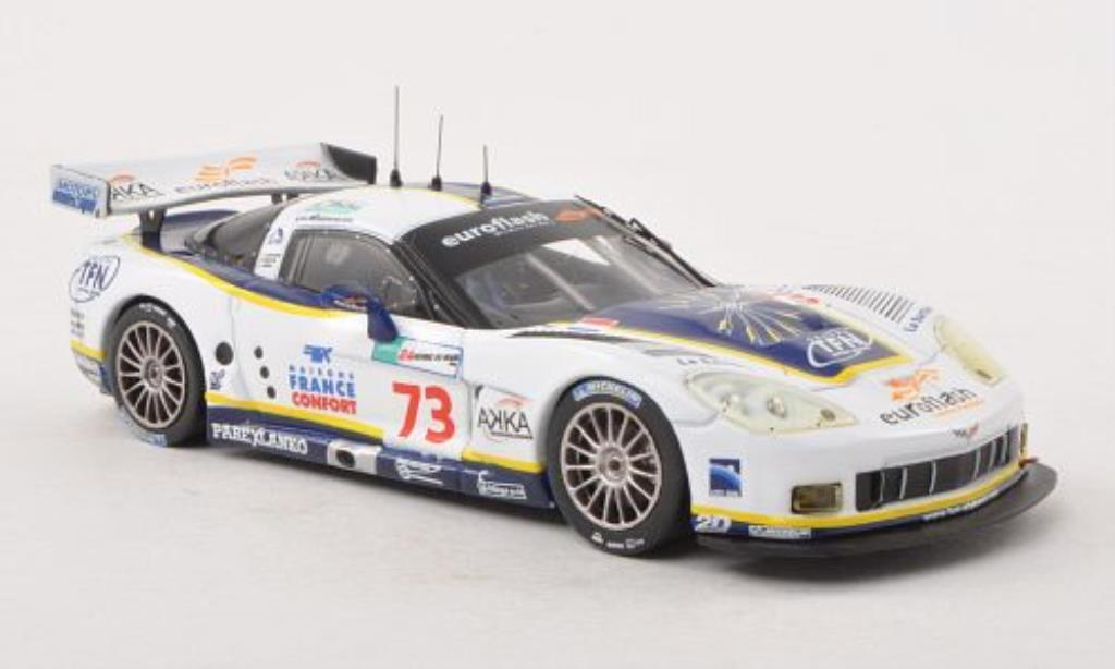 Chevrolet Corvette C6 1/43 IXO .R No.73 Euroflash 24h Le Mans 2008 diecast model cars