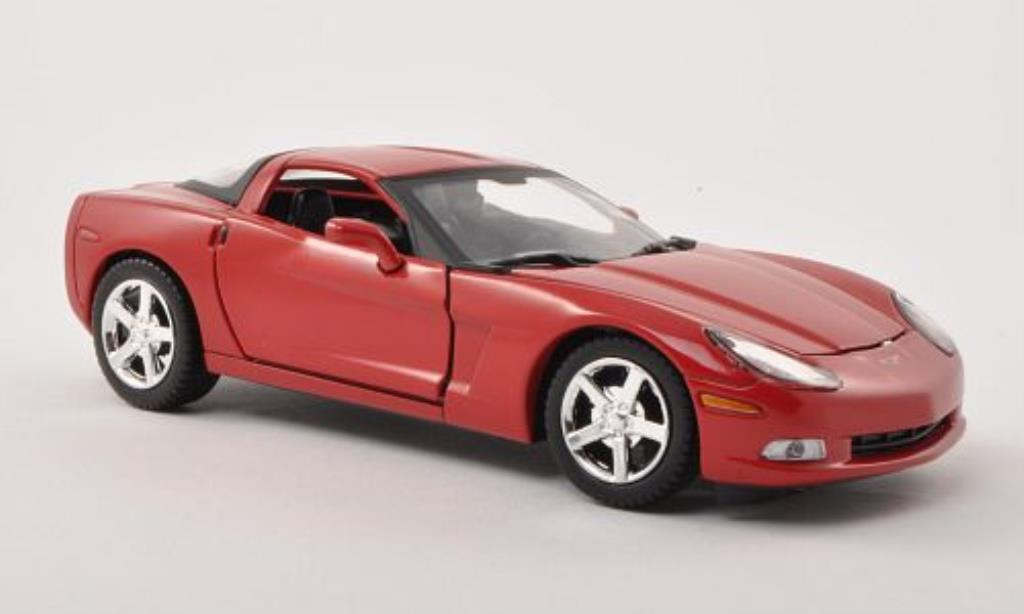 Chevrolet Corvette C6 1/24 Motormax red 2005 diecast model cars