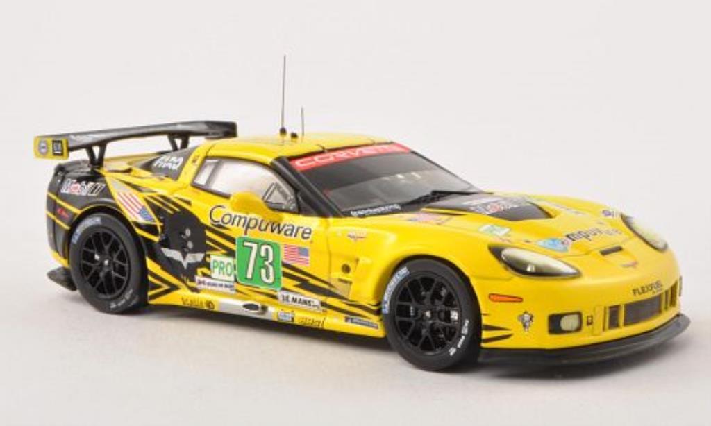 Chevrolet Corvette C6 1/43 IXO ZR1 No.73 24h Le Mans 2012 /J.Magnussen miniature