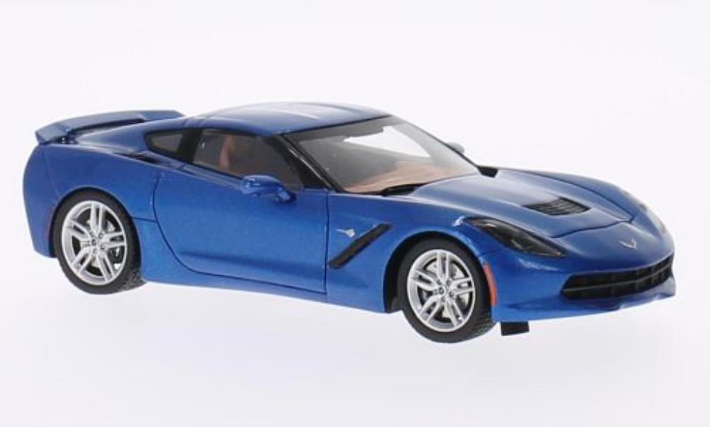 Chevrolet Corvette C7 1/43 Spark bleu 2014 diecast model cars