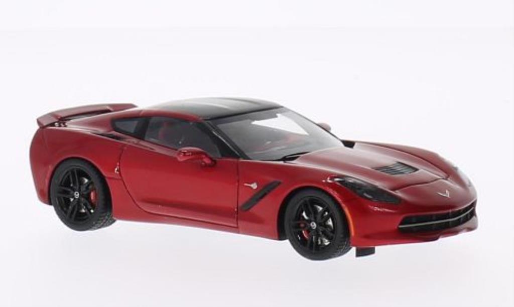 Chevrolet Corvette C7 1/43 Spark red 2014 diecast model cars
