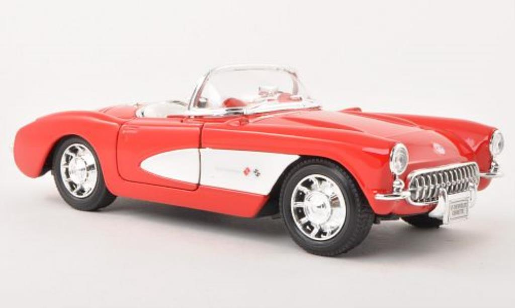 Chevrolet Corvette C1 1/24 Welly Cabriolet red 1957 diecast model cars