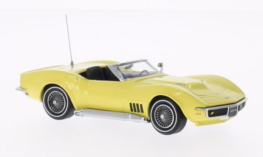 Chevrolet Corvette C3 1/43 Vitesse Convertible yellow 1968 diecast model cars