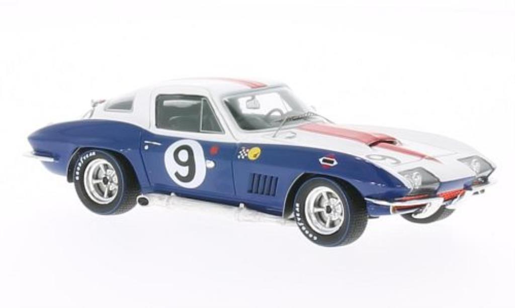 Chevrolet Corvette C2 1/43 Spark No.9 24h Le Mans 1967 /D.Guldstrand diecast model cars