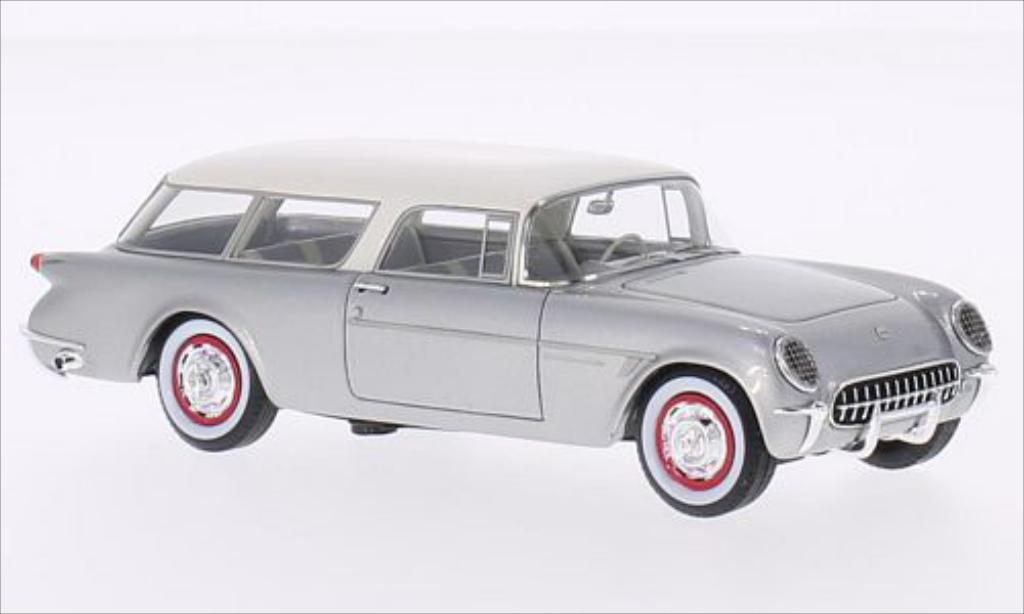 Chevrolet Corvette C1 1/43 Neo Nomad grey/white 1954 diecast model cars