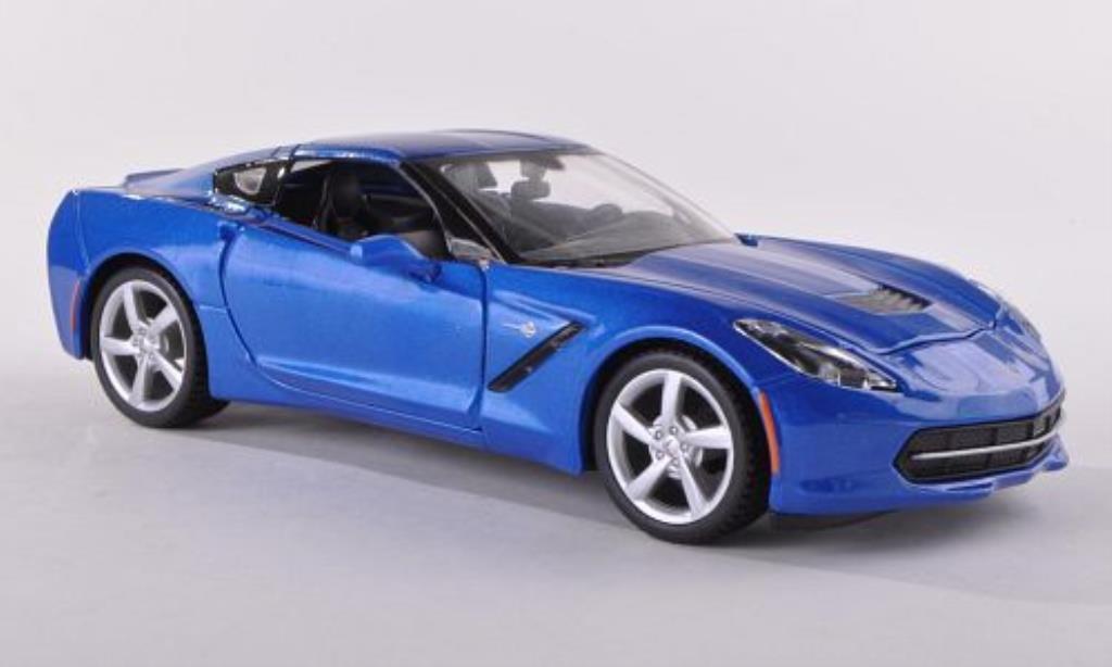 Chevrolet Corvette C7 1/24 Maisto (C 7) Coupe bleu 2014 diecast