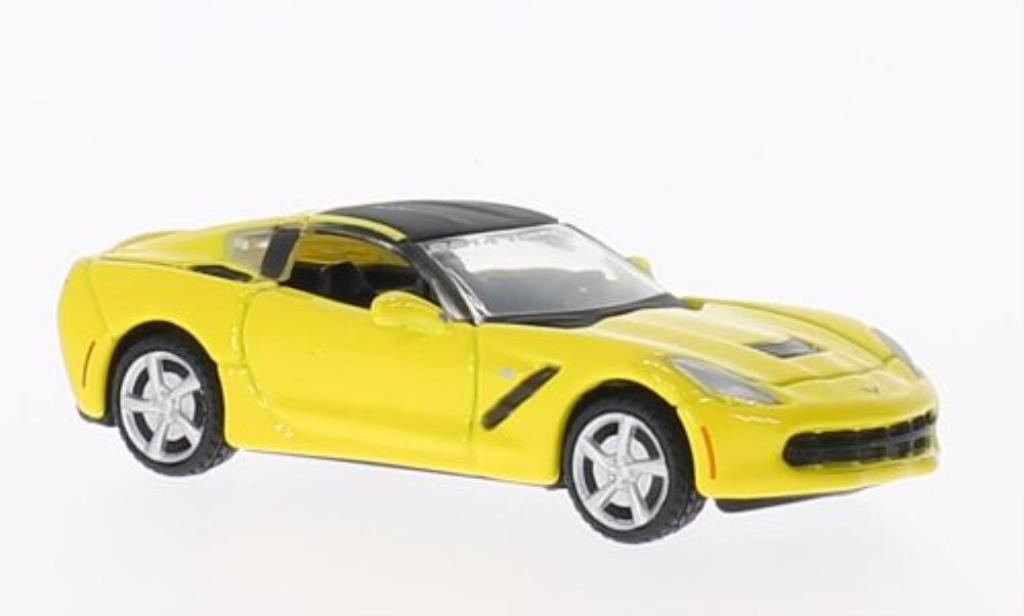 Chevrolet Corvette C7 1/64 Maisto  yellow Toy Fair 2014 diecast model cars