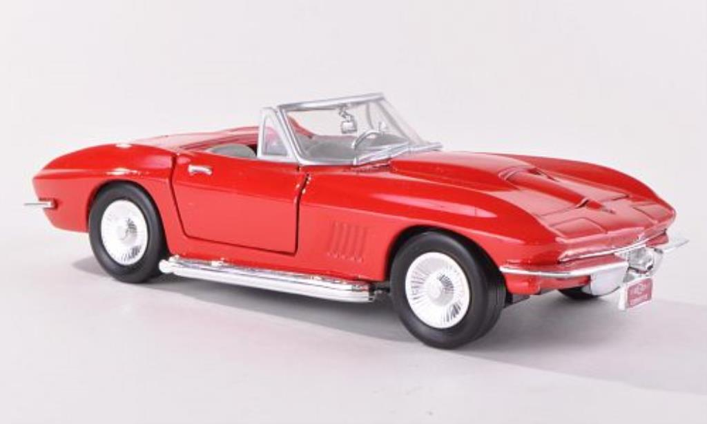 Chevrolet Corvette C2 1/24 Motormax Convertible  red diecast model cars
