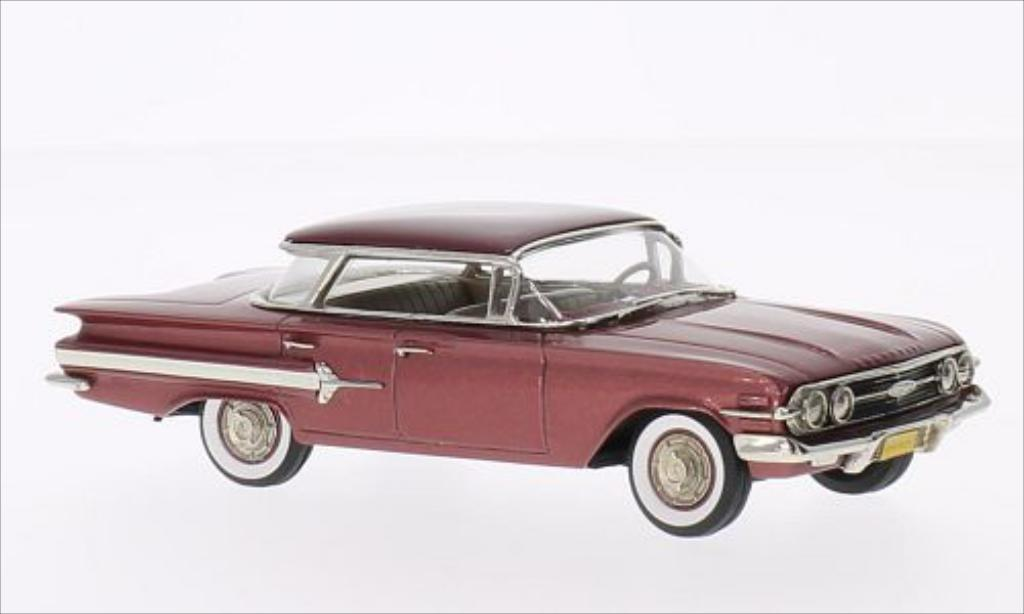Chevrolet Impala 1/43 Brooklin 4-door Hardtop Sports Sedan metallise rose/rouge 1960 miniature