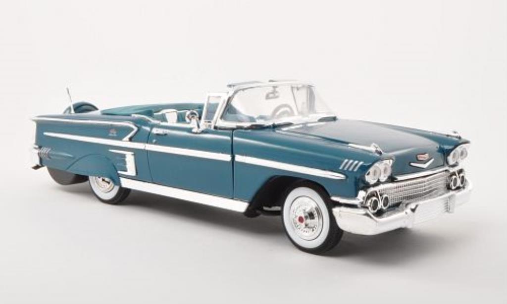 Chevrolet Impala 1/18 Motormax Convertible turkis 1958 miniature