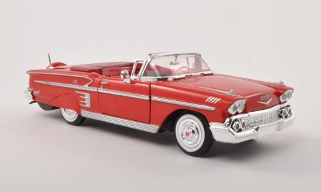 Chevrolet Impala 1/24 Motormax Convertible rouge 1958