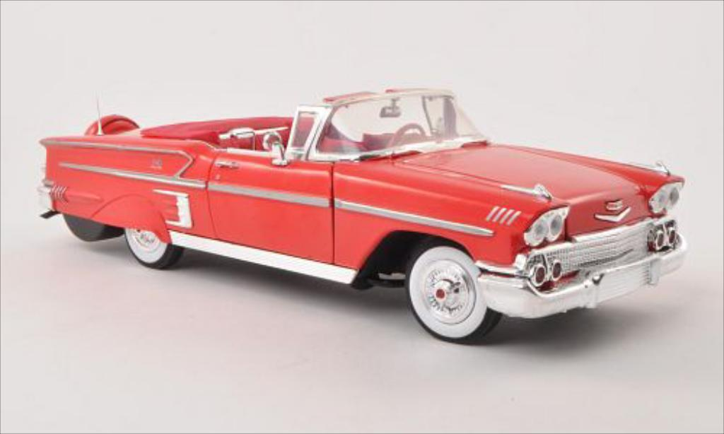 Chevrolet Impala 1/18 Motormax Convertible rouge 1958