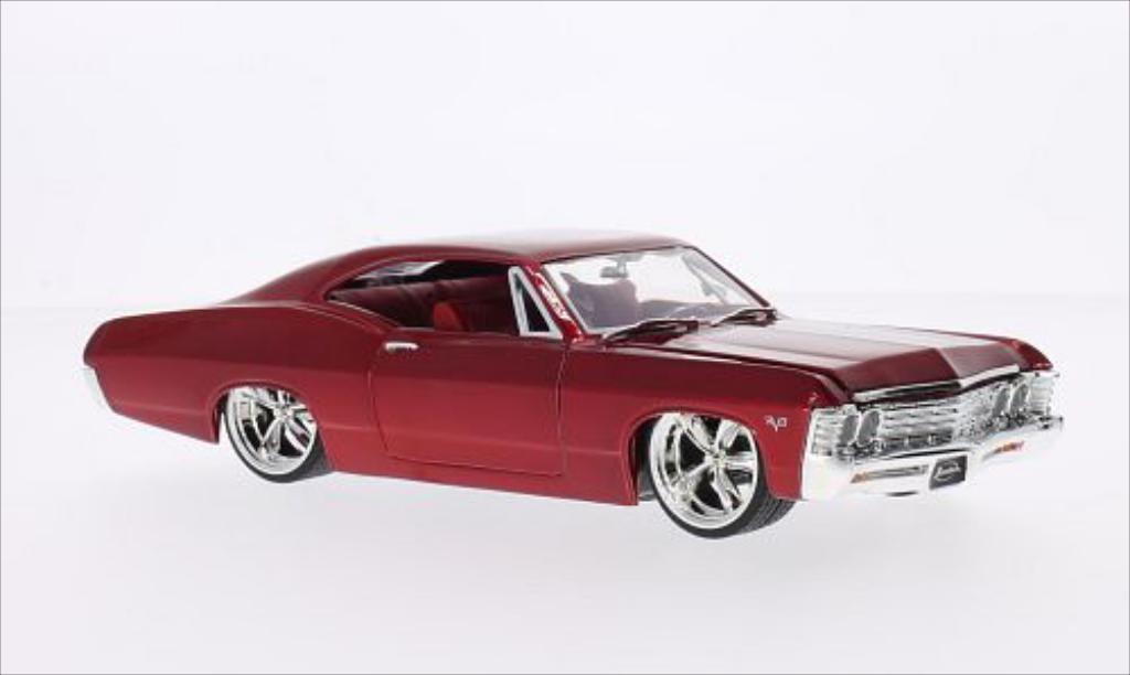 Chevrolet Impala 1/24 Jada Toys Toys SS Tuning rouge 1967 miniature