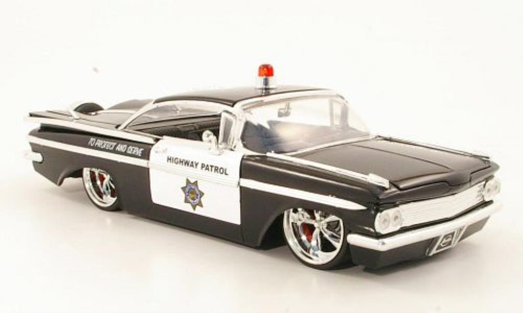 Chevrolet Impala 1/24 Jada Toys Toys Tuning Highway Patrol Polizei (US) 1959 miniature