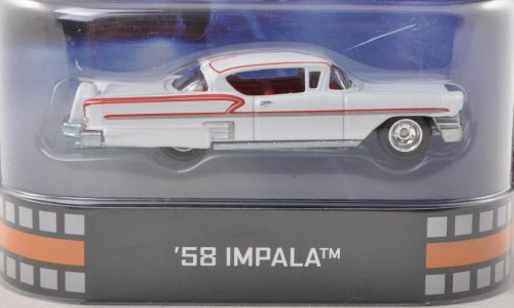 Chevrolet Impala 1/64 Hot Wheels blanche/rouge American Graffiti 1958 miniature
