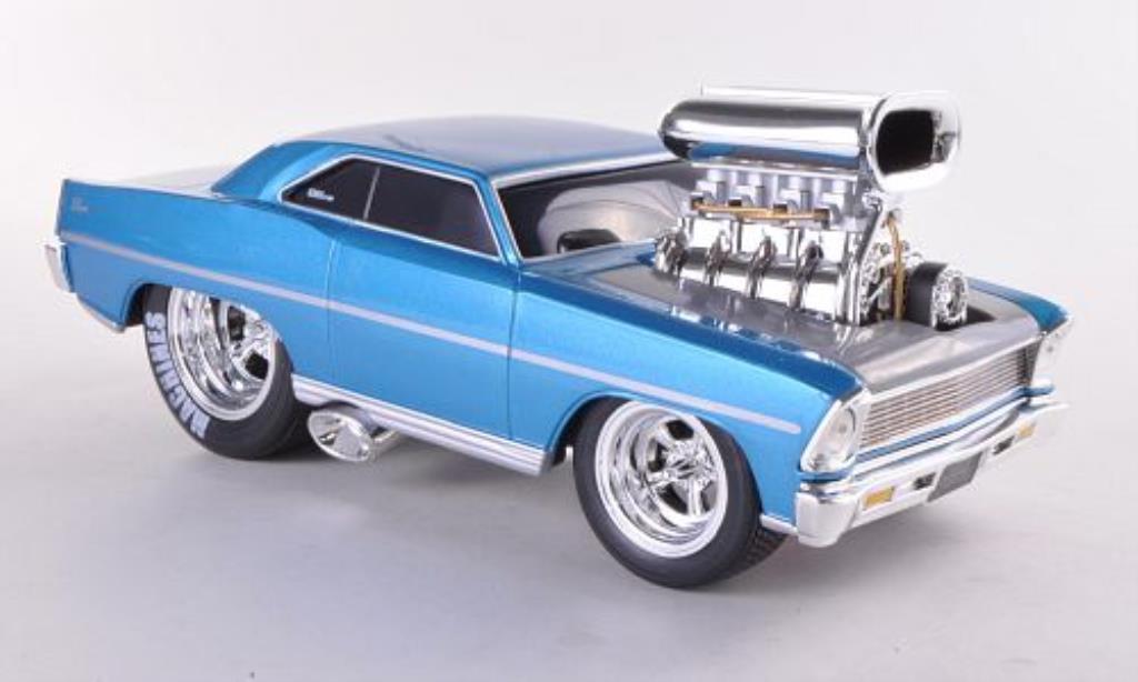 Chevrolet Nova 1/24 Maisto SS bleu 1967 miniature