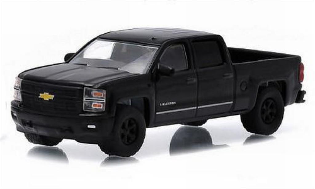 Chevrolet Silverado 1/64 Greenlight 1500 noire 2015 miniature