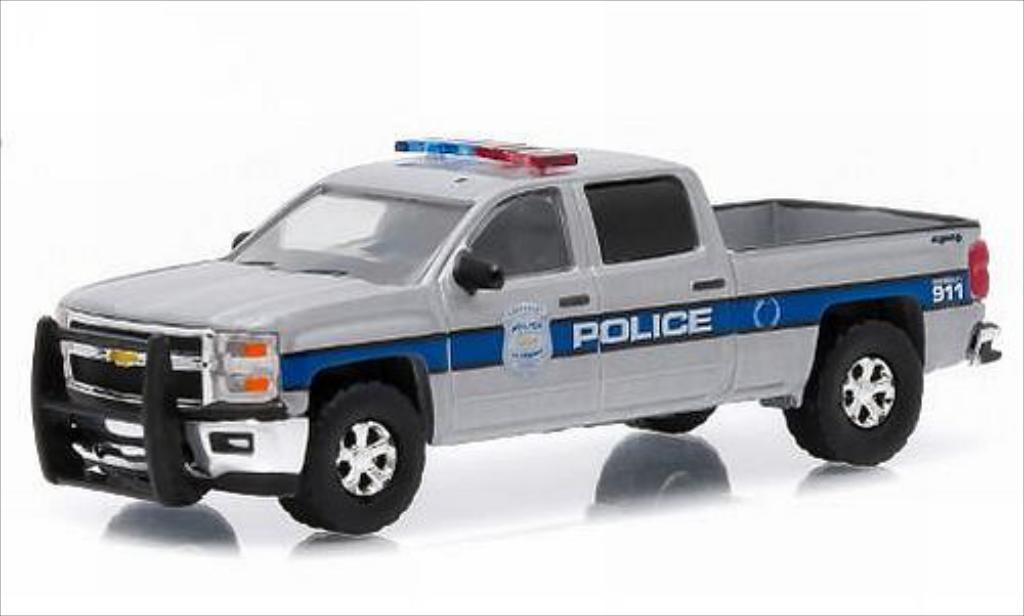 Chevrolet Silverado 1/64 Greenlight Police 2015 miniature