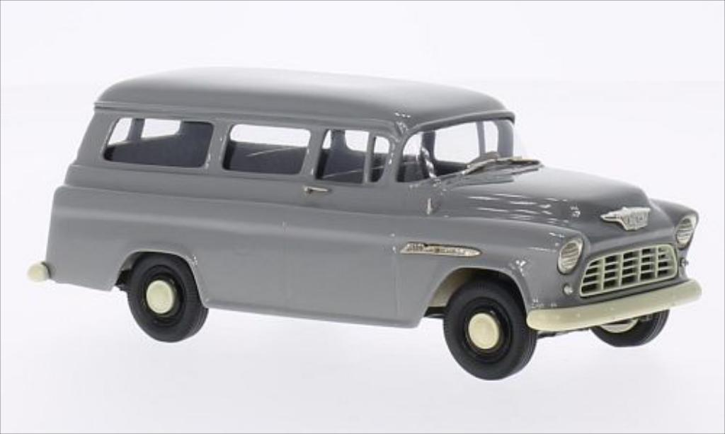 Chevrolet Suburban 1/43 Brooklin Carryall grise 1955 miniature