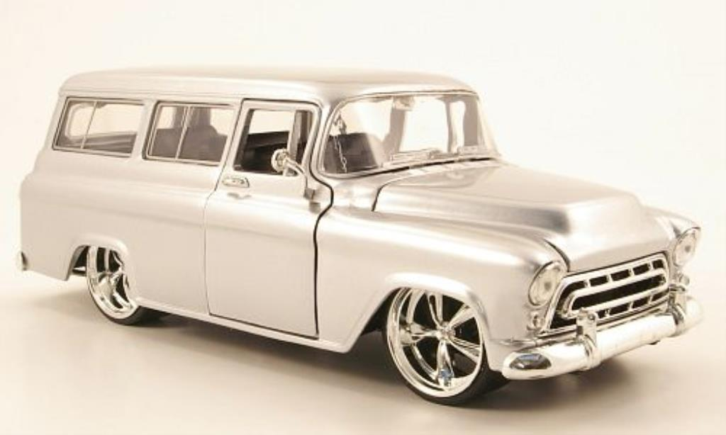 Chevrolet Suburban 1/24 Jada Toys gray 1957 diecast