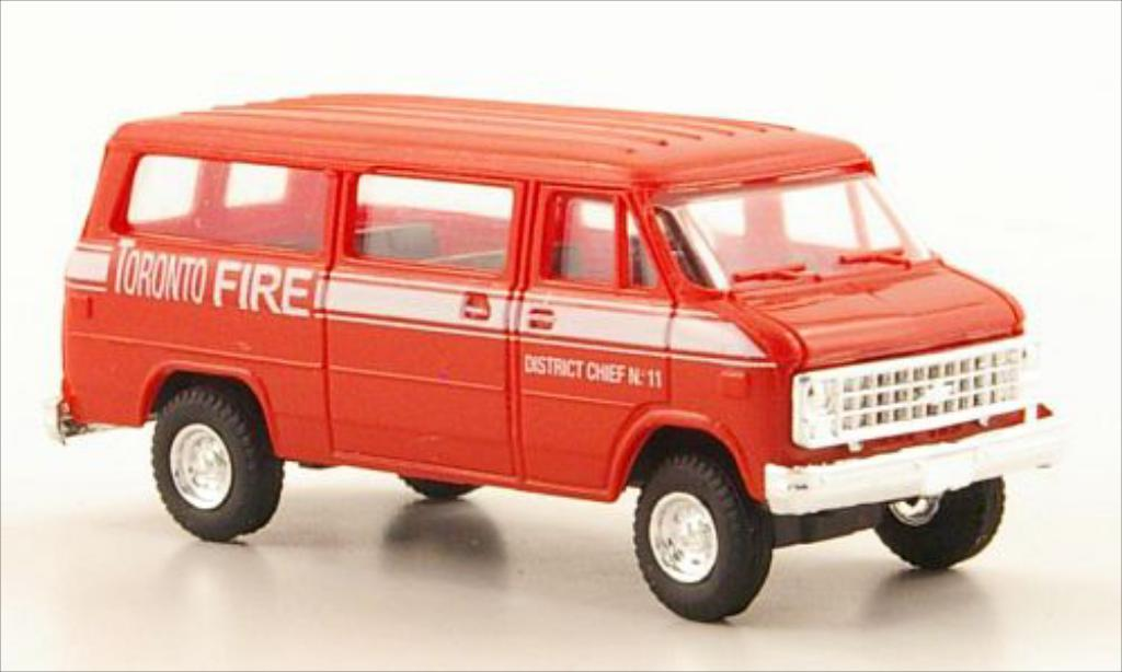 Chevrolet Van 1/87 Trident Toronto Fire Service modellautos