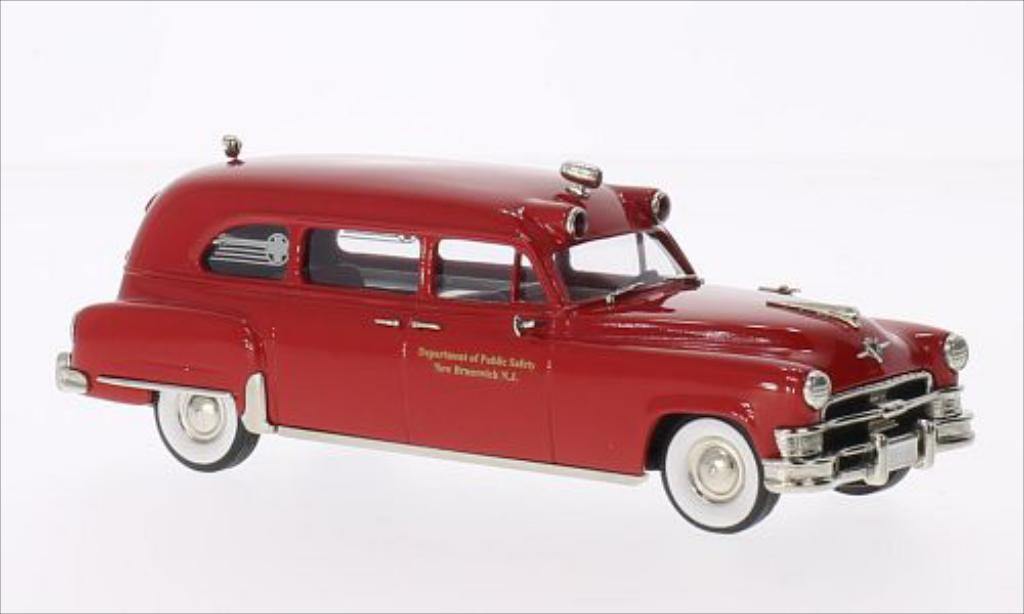 Chrysler Imperial 1/43 Brooklin Ambulance New Brunswick rouge 1953 miniature