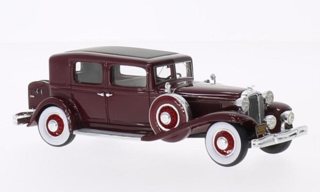 Chrysler Imperial 1/43 GLM CG Club Sedan rouge 1931 miniature