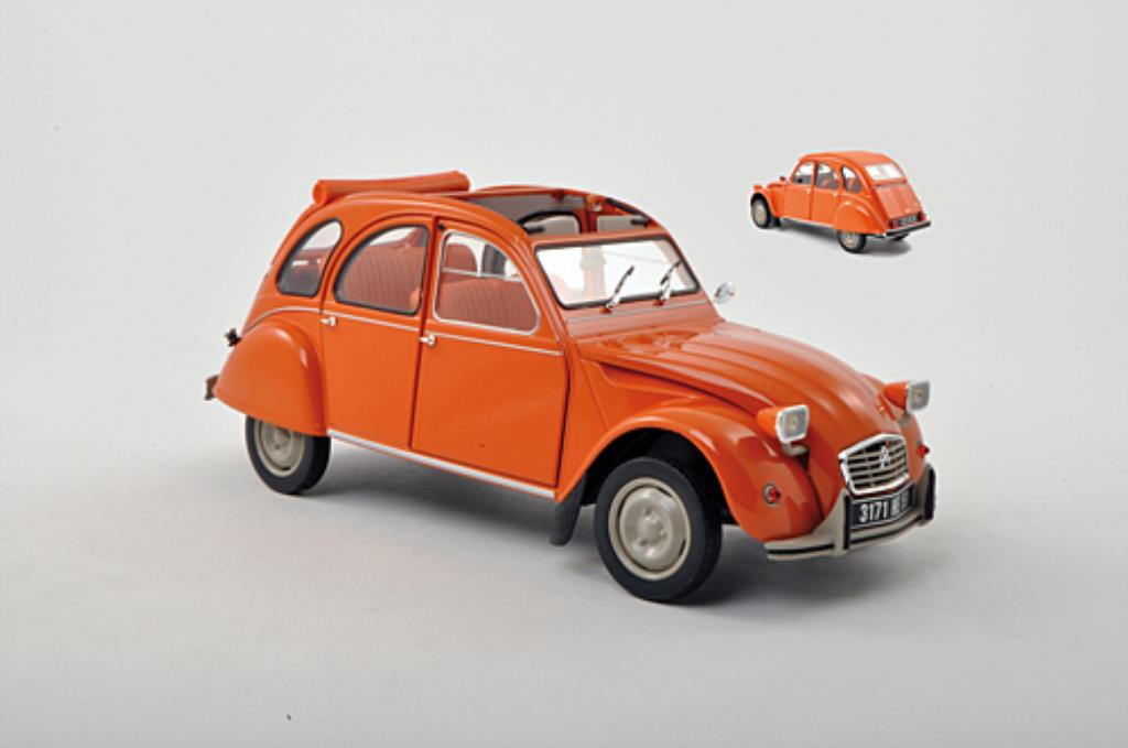 Citroen 2CV 1/18 Norev 6 orange 1975 miniature