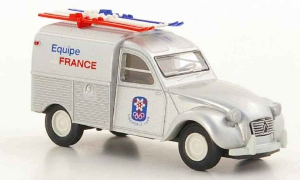 Citroen 2CV 1/87 Brekina Fourgonette Equipe de France X. Olympische Winterspiele Grenoble 1968 miniature