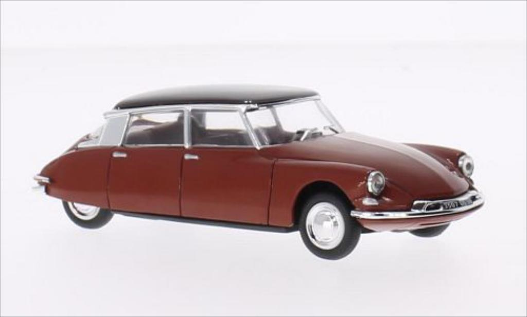 Citroen DS 19 1/43 Vitesse 19 rouge/marron 1960 miniature