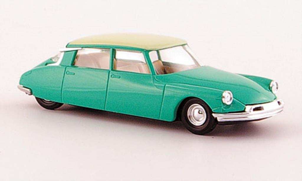 Citroen DS 19 1/87 Busch verte/beige mit Pneumatiksimulation 1955 miniature