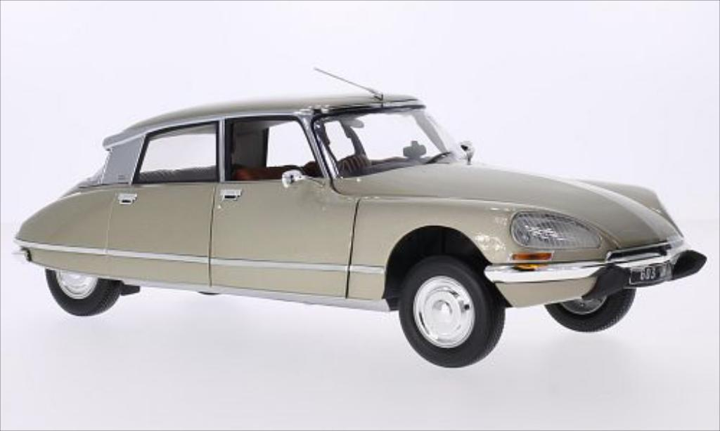 Citroen DS 23 1/18 Norev 23 Pallas metallise beige 1973 miniature