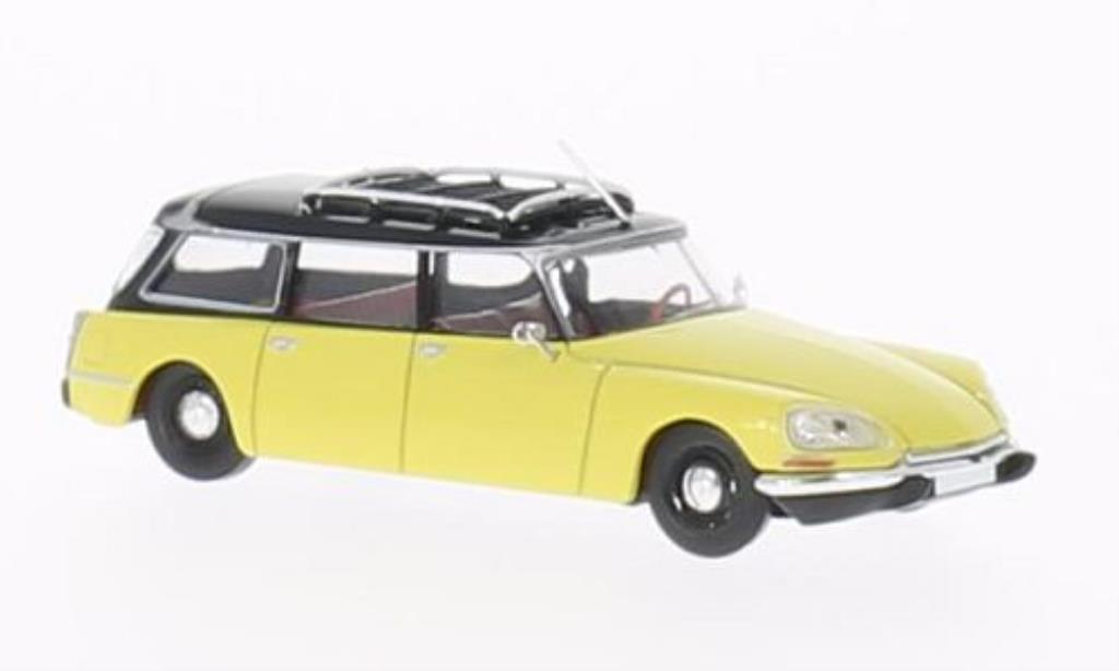 Citroen DS 1/87 Brekina Break jaune/noire miniature