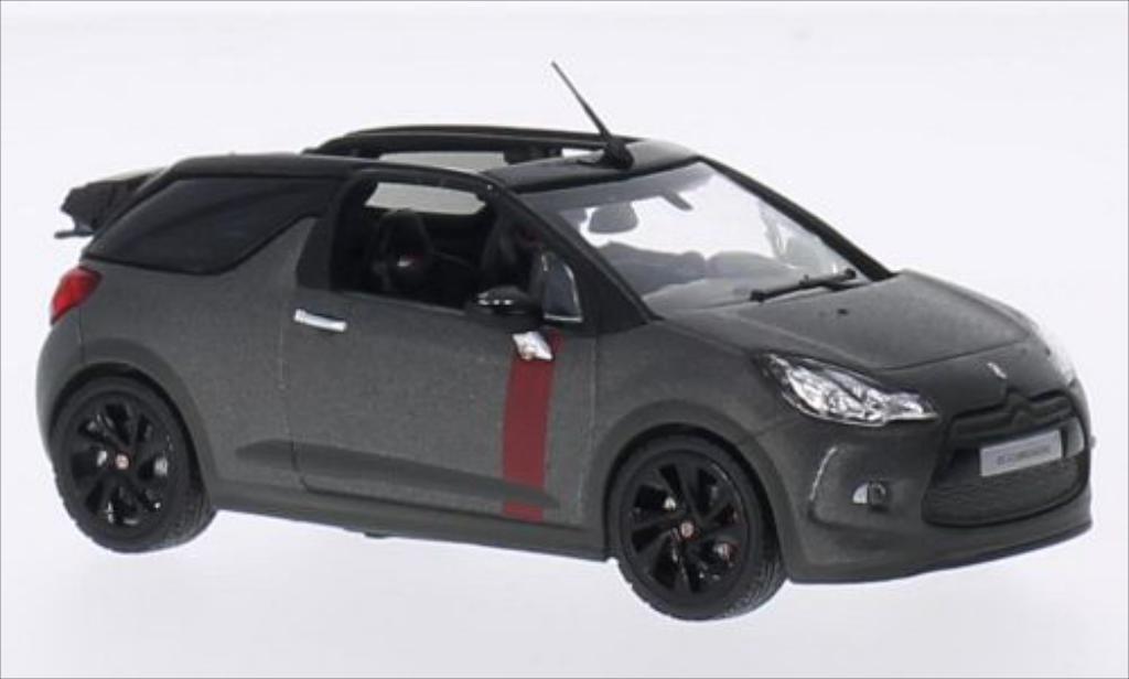 DS Automobiles DS3 1/43 Norev Cabrio Racing matt-grise 2014 miniature