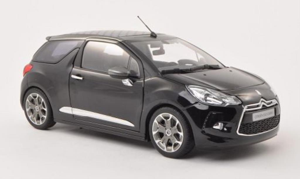 DS Automobiles DS3 1/18 Norev Cabrio noire 2013 miniature