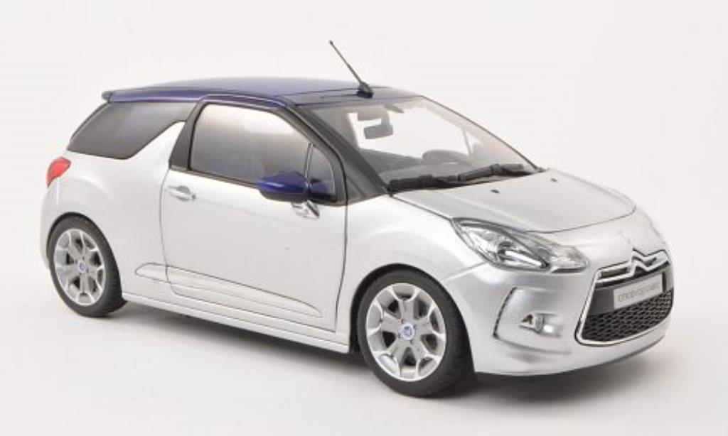 DS Automobiles DS3 1/18 Norev Cabrio grise 2013 miniature