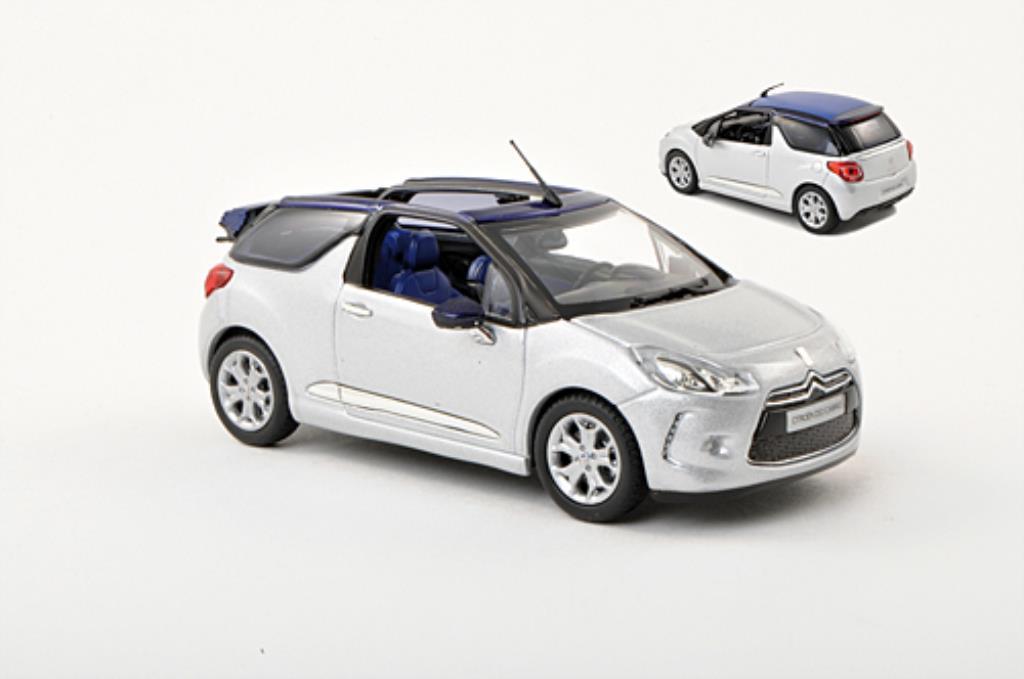 DS Automobiles DS3 1/43 Norev Cabrio grise 2013 miniature