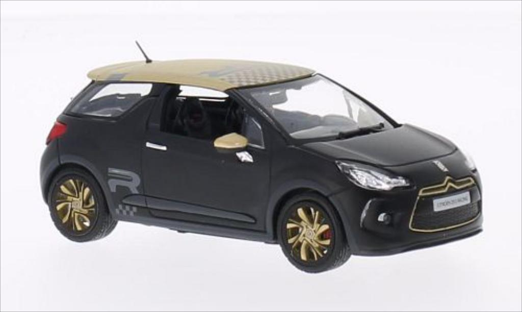DS Automobiles DS3 Racing 1/43 Norev matt-noire/matt-gold 2013 miniature