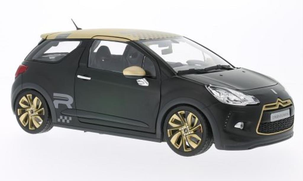 DS Automobiles DS3 Racing 1/18 Norev matt-noire mit Golddeko 2013 miniature