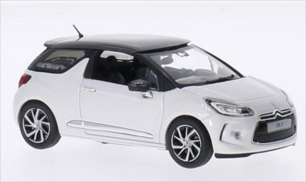 DS Automobiles DS3 1/43 Norev blanche/metallic-grise 2014