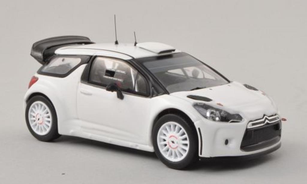 DS Automobiles DS3 1/43 IXO WRC matt-blanche 2009 miniature