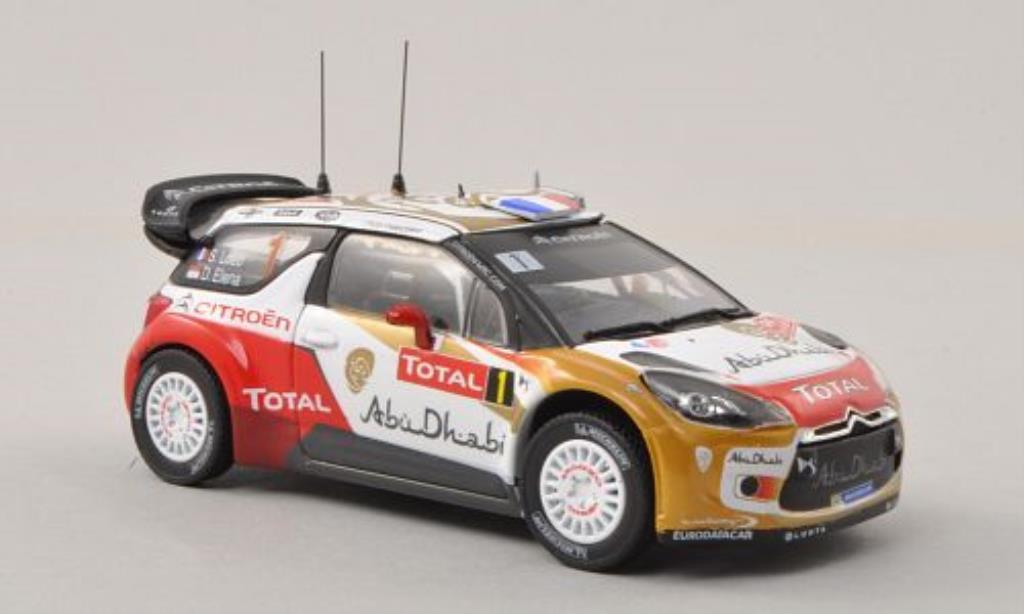 DS Automobiles DS3 1/43 Norev WRC No.1 Abu Dhabi / Total Rally Monte Carlo 2013 /D.Elena