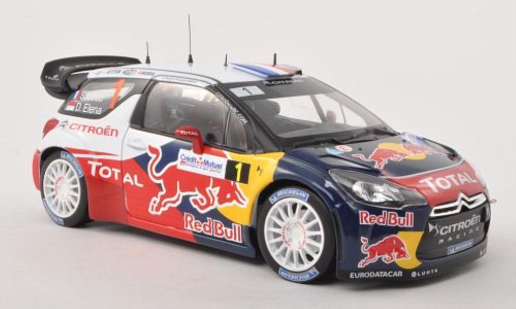 DS Automobiles DS3 1/18 Norev WRC No.1 Red Bull Rally Frankreich 2012 /D.Elena miniature