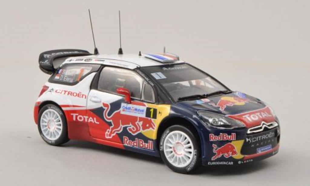 DS Automobiles DS3 1/43 Norev WRC No.1 Red Bull / Total Rally de France 2012 /D.Elena miniature