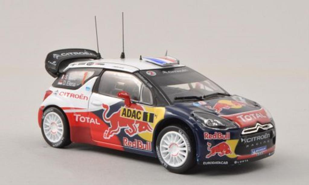 DS Automobiles DS3 1/43 Norev WRC No.1 Red Bull / Total Rally Deutschland 2012 /D.Elena miniature