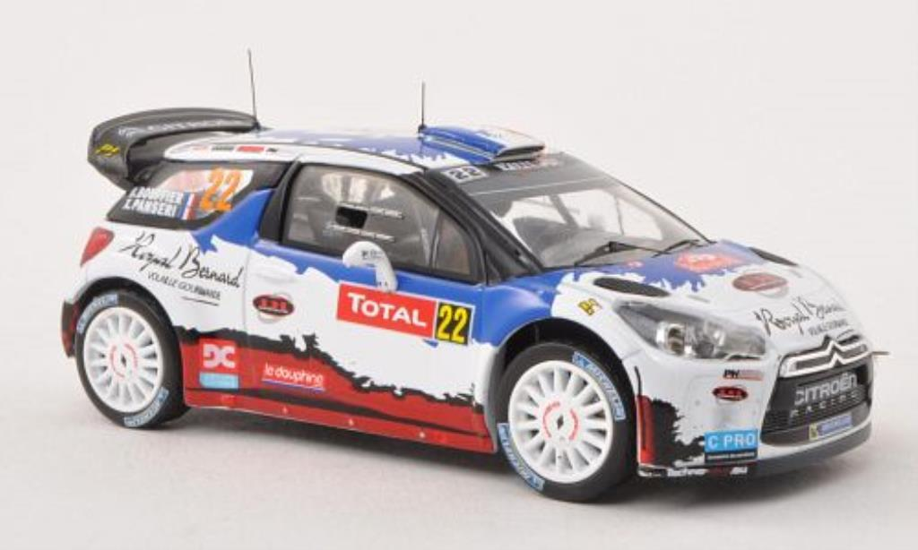 DS Automobiles DS3 1/43 IXO WRC No.22 Rally Monte Carlo 2013 /X.Panseri miniature