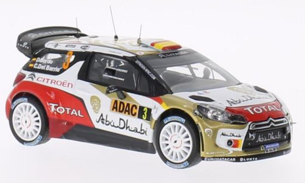 DS Automobiles DS3 1/43 IXO WRC No.3 Abu Dhabi Rally Deutschland 2013 /C.Del diecast model cars