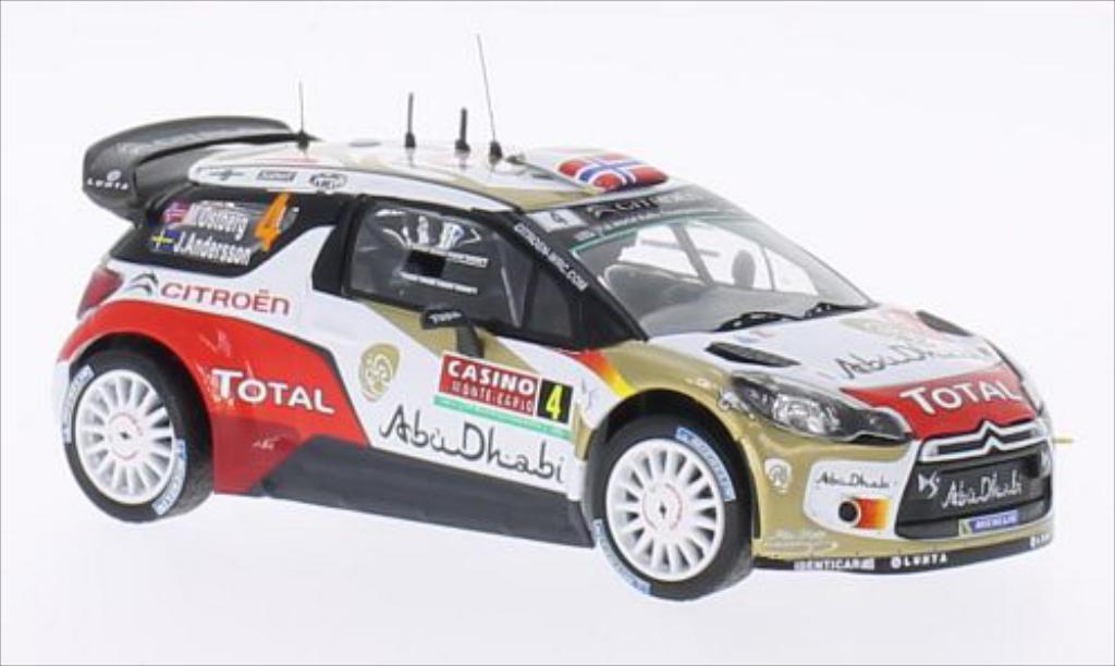 DS Automobiles DS3 1/43 IXO WRC No.4 Abu Dhabi Rally Monte Carlo 2014 /J.Andersson miniature